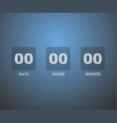 countdown timer background vector image