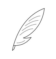 Creative writing line icon vector