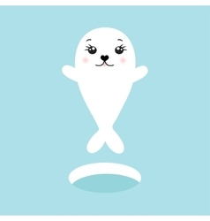 Cute seal of cute cartoon vector image