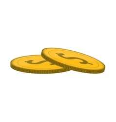 Dollar coin icon vector