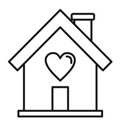 donate home icon outline style vector image