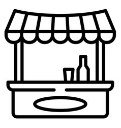 Drink shop kiosk icon outline style vector