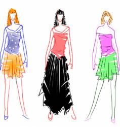fashion design sketches vector image