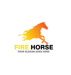 Fire horse logo vector