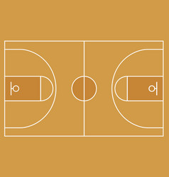flat basketball field top view of basketball cour vector image