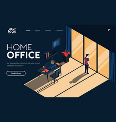 flat modern design home office vector image