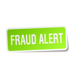 Fraud alert square sticker on white vector