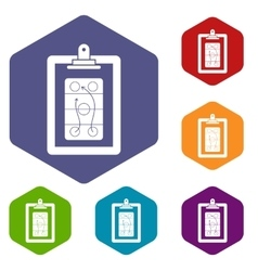 Game plan icons set vector image
