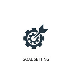 Goal setting icon simple element vector
