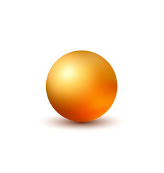 golden ball isolated on white background vector image