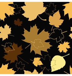 Golden leaves vector