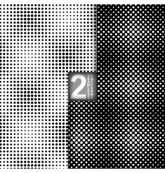 Halftone Dots Style Black White Seamless Patterns vector