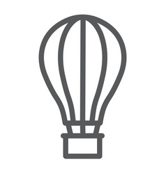Hot air ballon line icon travel and tourism vector