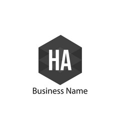 Initial ha letter logo design vector