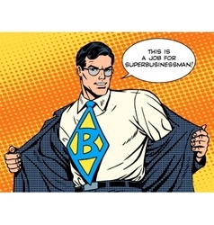 job super businessman hero vector image