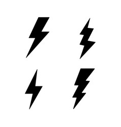 lightning bolt thunder bolt lighting strike vector image