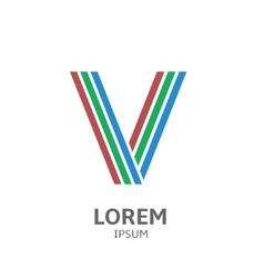 LOREM ipsum V vector image