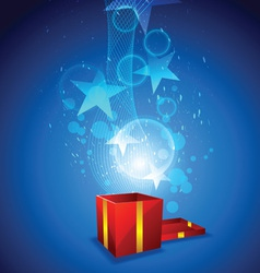 magic from giftbox vector image