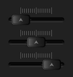 media slider black user interface element vector image