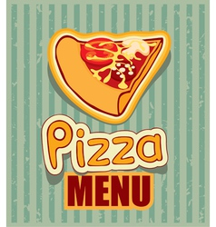 Menu with pizza vector image