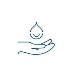 Moisturizing hands line icon concept moisturizing vector