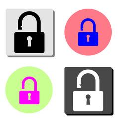 open padlock flat icon vector image
