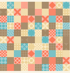 Patchwork pattern seamless quilt ornament quilted vector
