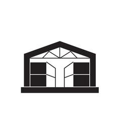 Pavilion storehouse black concept icon vector