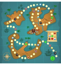 Pirates treasure island game vector