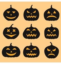 Pumpkins set for Halloween vector