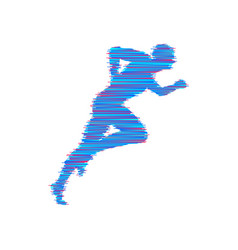 running man design for sport and business vector image
