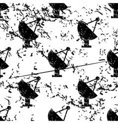 Satellite dish pattern grunge monochrome vector