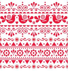 scandinavian seamless pattern folk art vector image