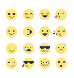 Set emotions icons for applications and chat vector