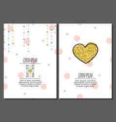 set of birthday greeting cards creative design vector image