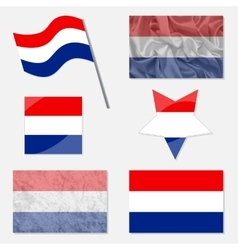Set with flags of netherlands vector