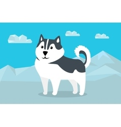 Siberian Husky in Flat Design vector