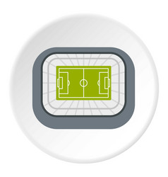 Stadium top view icon circle vector