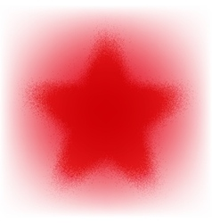 Star Grunge Red vector
