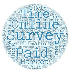 Take Online Surveys from Home and Get Paid text vector image