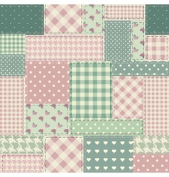 The patchwork in style shabby chic vector