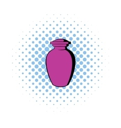 Urn for ashes icon comics style vector