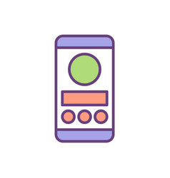 ux and ui design rgb color icon vector image