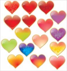 Valentine's hearts vector