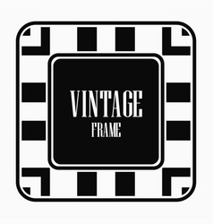 Vintage art deco frame vector