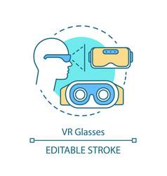 Vr glasses concept icon vector