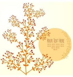 Watercolor card with branches vector