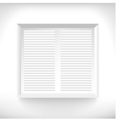 white windows with jalousie vector image