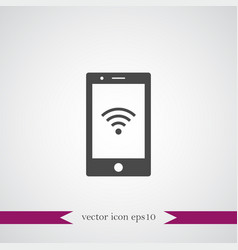 wireless icon simple vector image