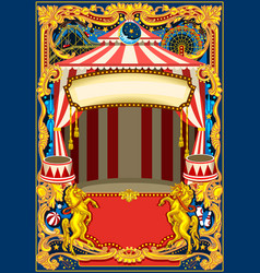 circus poster frame vector image vector image